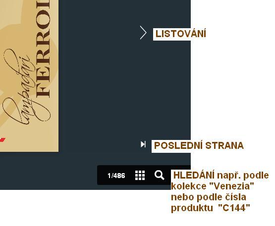 Listování katalogem Ferroluce