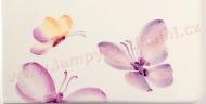 lila motýlci dekor