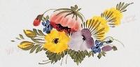 pestry kvetinovy motiv dekor