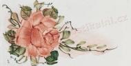 lososová růže dekor