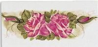 ruze symetricky dekor